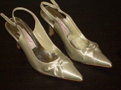 Zapatos de Novia Hochzeitschuhe Satén Con Lazo ELEGANT Talla 38 Nuevo