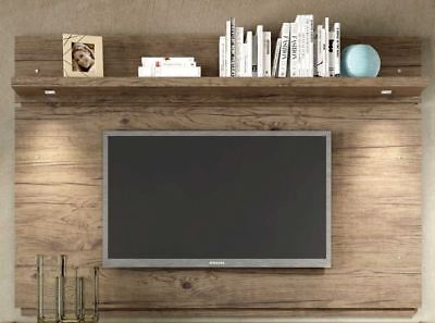 Floating Entertainment Center Rustic Wall Mounted Media 60 Inch TV Stand Wood  ()