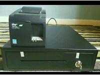 Till drawer and printer