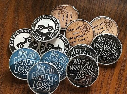 Not All Who Wander Are Lost Geocache Swag Pocket Tokens Mixed Lot Of 12