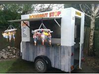 Donut doughnut van trailer business ready to work