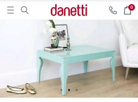 Danetti aqua/blue coffee table.