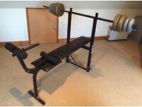 Weight Lighting Bench & Weights