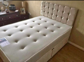 Glitz divan - crush velvet beds - FREE DELIVERY