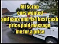 scrap cars vans 4x4 mot failures non runners wanted cash paid