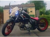 Custom Hardtail Chopper Rat Bike Mad Max 12 MONTHS MOT Ready To Ride - Learner Legal
