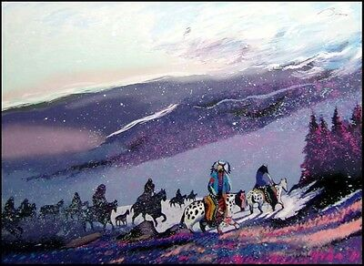 "Earl Biss ""Blizzard Along The Beartooth Range"" Serigraph on Paper Hand Signed for sale  Aurora"
