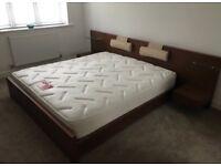 Dwell Walnut Super King Bed & Mattress