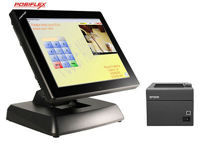 Posiflex Xt3915 15 Touchcomputer Restaurant With Pcamerica Rpe Posready7 New