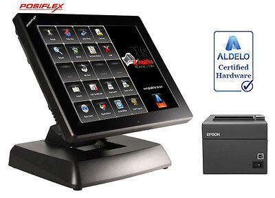 Posiflex Xt3915 Restaurant One Time Fee Pos System With Aldelopro Software New