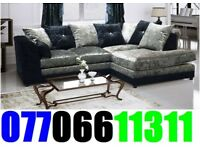 Brand Black Friday corner or 3+2 crushed velvet sofa for sale fast delivery