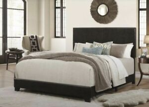 Lympsham Upholstered Panel Bed (king size)