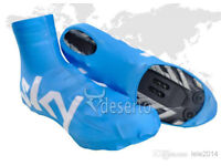 Team Sky Pro Cycling Lycra Overshoes XL