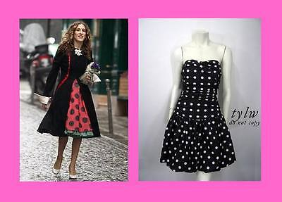 NWT! LUELLA BARTLEY for TARGET POLKA DOT STRAPLESS BODICE BUBBLE DRESS 1 UK 6 XS