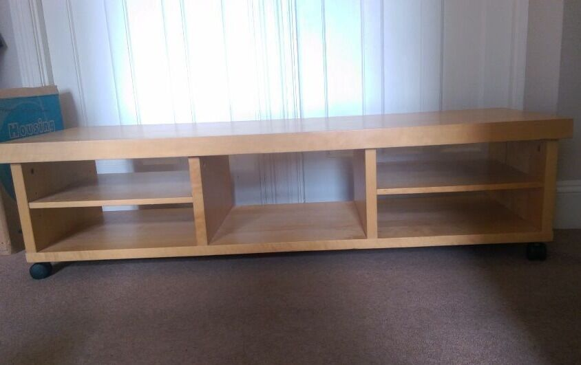 Ikea Tv Stand Cabinet Light Wood Effect On Wheels In Docklands