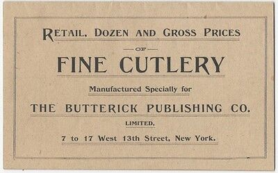 1890s Butterick Trade Catalog of Sewing Shears and Scissors - Sewing Tools
