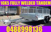 10X5 FULLY WELDED TANDEM TRAILER GALVANISED w CAGE BOX TRAILER sa Elizabeth West Playford Area Preview