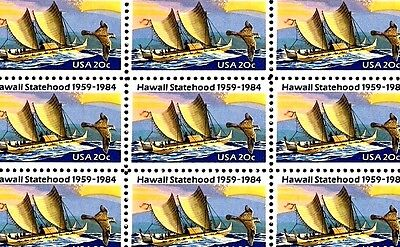 1984 - HAWAII STATEHOOD - #2080 Full Mint -MNH- Sheet of 50 Postage Stamps