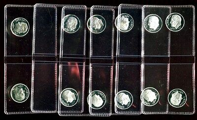 2000 2008 2009 2010 2011 S 90 SILVER PROOF DCAM ROOSEVELT DIMES 12 COINS