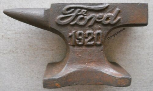 Ford Cast Iron Anvil Paperweight Salesman Jewelry Blacksmith #E160