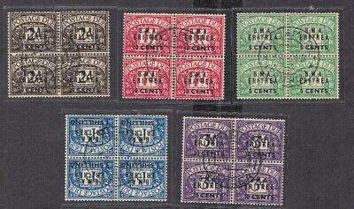 GB 1948 KGVI B.M.A. Eritrea Overprinted USED  Blocks Dues