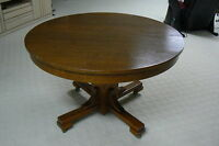 Solid Oak 'heart of the tree' antique dining table