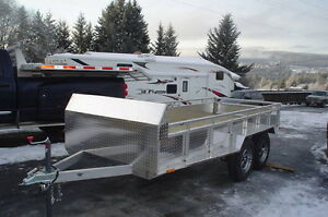 14' aluminium quad trailer Prince George British Columbia image 1