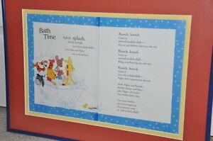 "Framed Winnie the Pooh poem ""Bath Time"" Kitchener / Waterloo Kitchener Area image 2"