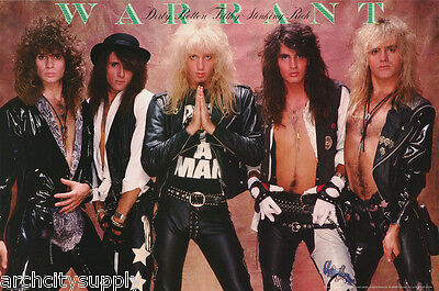 POSTER : MUSIC : WARRANT - DIRTY,ROTTEN,FILTHY - FREE SHIPPING ! #WAP001 LW12 G