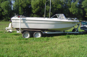 PARTING OUT 190 HP OMC FORD V8  STERN DRIVE BOAT