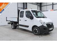2015 65 VAUXHALL MOVANO 2.3 R3500 DOUBLE CREW CAB TIPPER