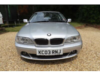"2003 E46 BMW 330 CI SE AUTO COUPE 232 BHP 6 CYLINDER FULL LEATHER 120K FSH 18"" M"