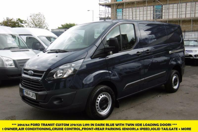 2014 ford transit custom 270 125 l1h1 swb diesel van in dark blue with air condi in kingston. Black Bedroom Furniture Sets. Home Design Ideas