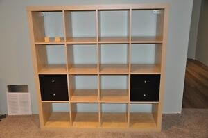 IKEA 4 cube x 4 cube with drawer inserts