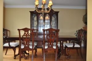 Solid Wood Table Buffet and Hutch