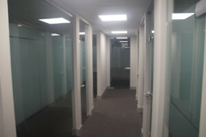 WINDOW & INTERIOR PRIVATE OFFICES FOR RENT IN DELBROOK AVE