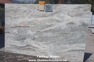 Granit (Quartzite) Fantaisie Brun: Super Teintes @ QuebecCuisine