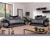 New Dino jumbo corner sofa 3+2 seater in grey/black