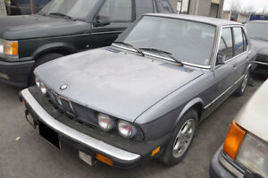 V BMW E28 535I M30 6 CYL 5 SPEED MANUAL BUILT MARCH 1985 0653578
