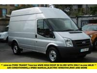 2010 FORD TRANSIT 350/100 MWB HIGH ROOF RWD IN SILVER WITH ONLY 58.000 MILES,AIR