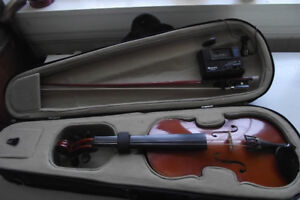 3/4 Size Palatino Violin With Tuner and Case