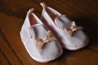 newborn baby girl slip on carters pink shoes - $2