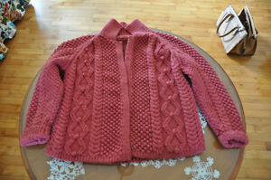3 Hand  Knit sweaters - like new $25 each