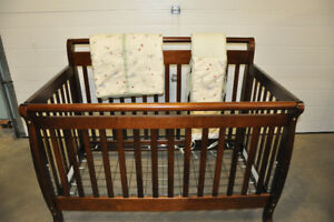 Crib bumper set and extra blankets