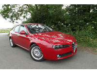 "2007 Alfa Romeo 159 1.9JTDM 16v Lusso DIESEL SALOON 89K FSH LEATHER CD 18"" ALLOY"