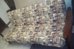Futon bed, tables & chairs etc etc..