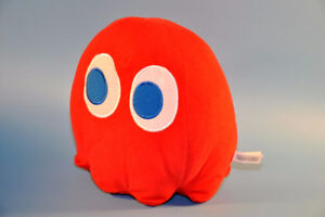"""2011 Pac Man Pacman Red Ghost 8"""" BLINKY Namco plush toy figure"""