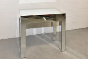 Wayfair mirrored side table with drawer