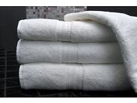 100% cotton, high QUALITY white TOWELS Bath and Hand Towels / Free delivery around Manchester.
