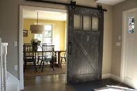 **2 In Stock** Reclaimed Wood Barn Door. By LIKEN Woodworks